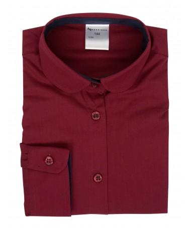 Minna, blouse for girls, dark red, dark blue