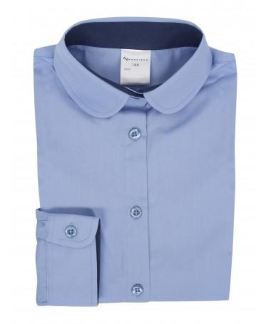 Minna, blouse for girls, light blue, dark blue