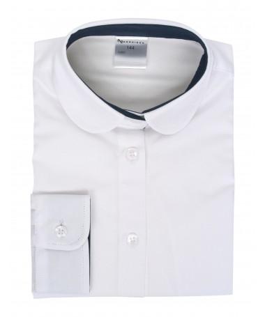 Minna, blouse for girls, white, dark blue
