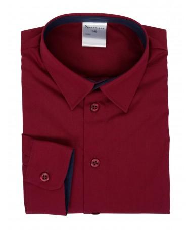 Kevin, shirt for boys, dark red, dark blue