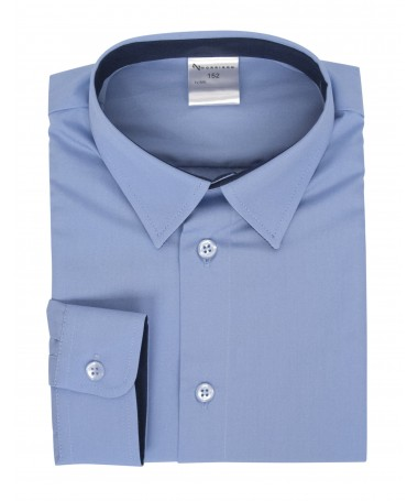 Kevin, shirt for boys, light blue, dark blue