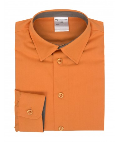 Kevin, shirt for boys, orange, grey