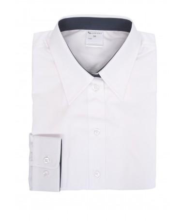 Donna, blouse for girls, white, dark blue