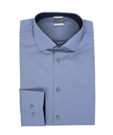 Tanel, shirt for boys, light blue, dark blue