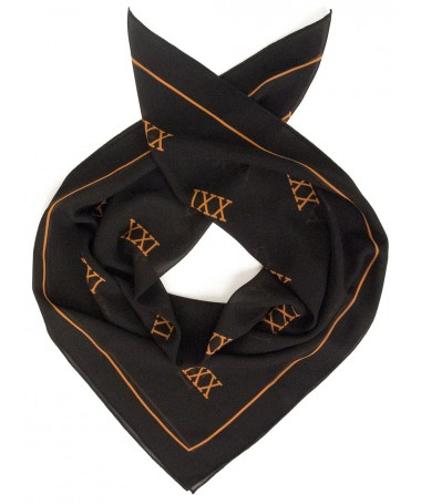 XXI scarf black with XXI logos