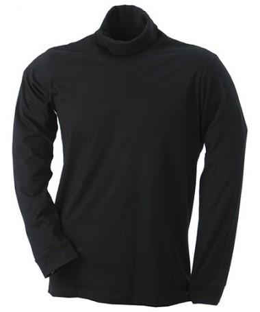 Pullover kõrge kaelusega JN183 / must