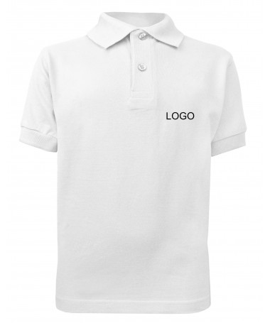 Children´s polo JN070k white