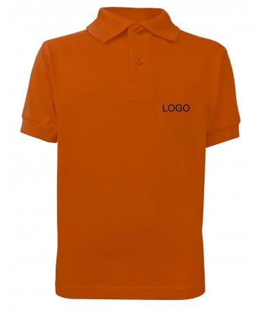 children´s polo JN070k dark-orange
