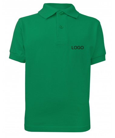 Children's Polo JN070k irish green