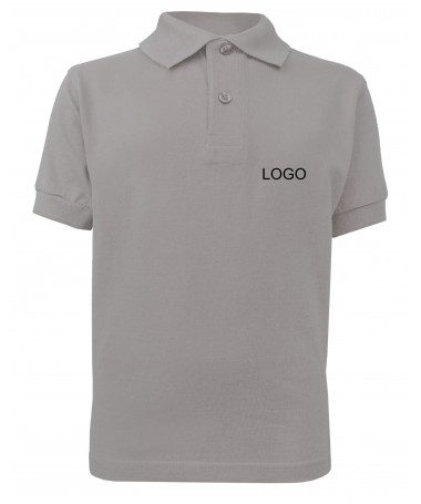 childern´s polo JN070k grey-heather