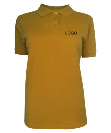 Ladies´polo JN071 gold-yellow