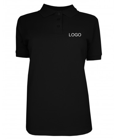 Ladies polo JN071 black