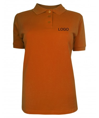 Ladies´ polo JN071 dark-orange