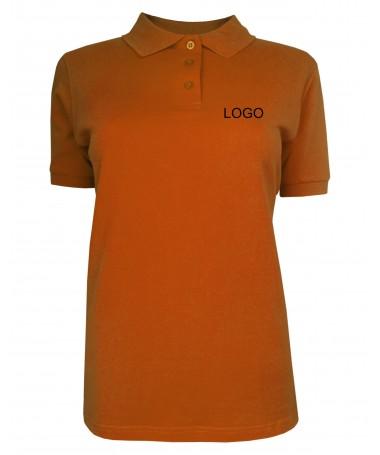 Ladies´ polo JN071 dark-orange