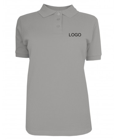Ladies´ polo JN071 grey-heather
