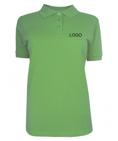Ladies polo JN071 lime-green