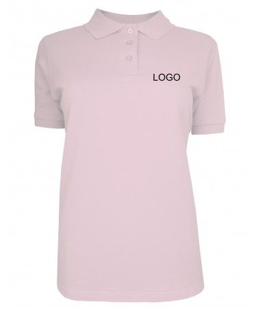 Ladies polo JN071 rose
