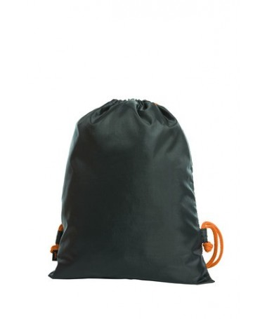 Drawstring bag FLASH 1813051 /Black orange cord