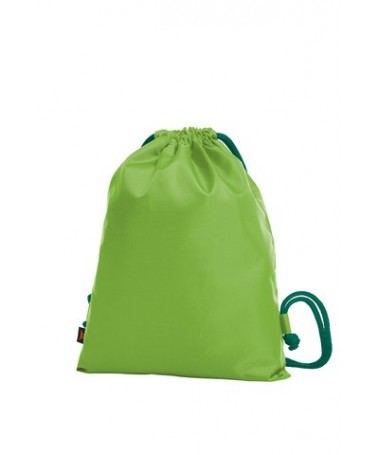 Drawstring bag PAINT 1813060 /Apple-green with dark-green cord