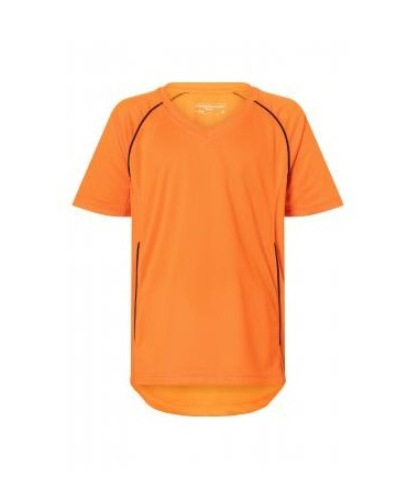 Childrens sports shirt JN386K, orange+black