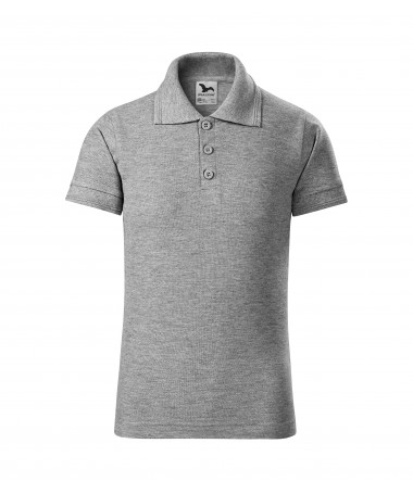 Children's Polo 222 dark grey melange