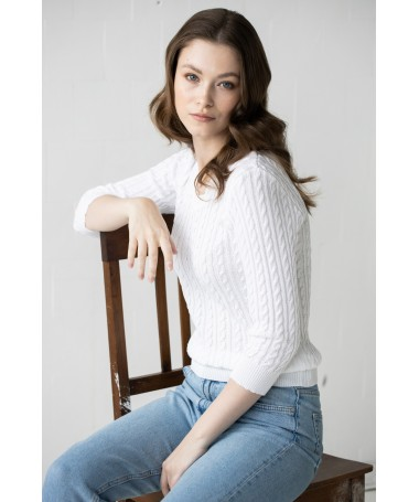 Roosi džemper valge