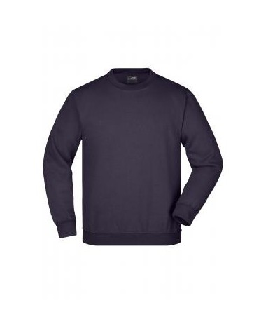 Round Sweat Heavy, aubergine