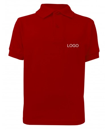 Children's Polo JN070k tomato