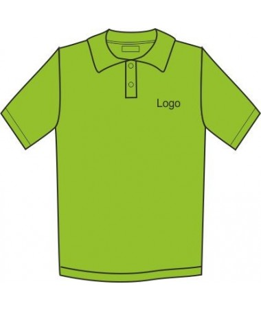 Children's Polo JN070k lime green