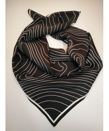 Scarf KJG, black with white pattern