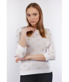 Täpi valge džemper